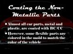 coating the non metallic parts
