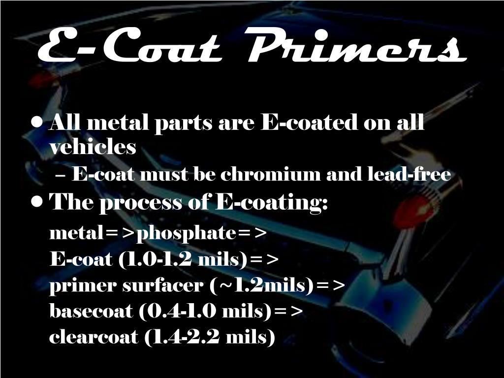 E-Coat Primers