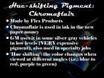 hue shifting pigment chromaflair