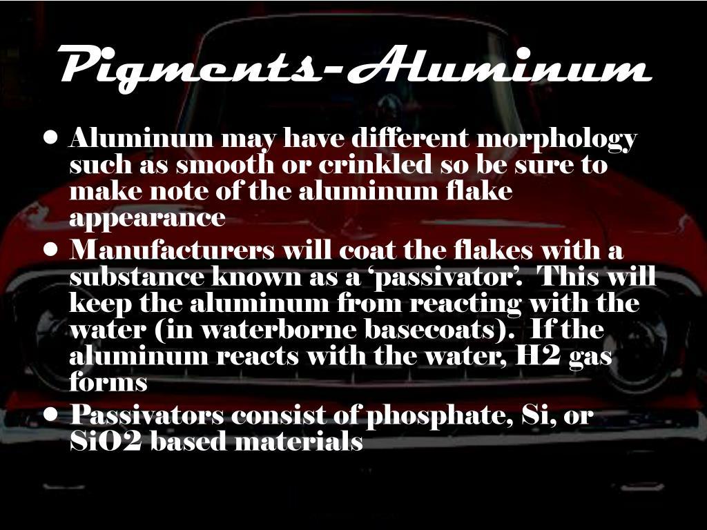 Pigments-Aluminum