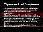 pigments aluminum