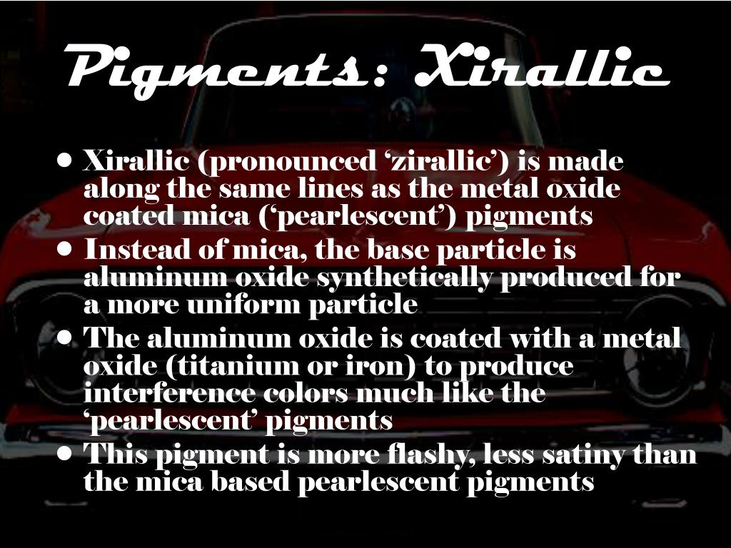 Pigments: Xirallic