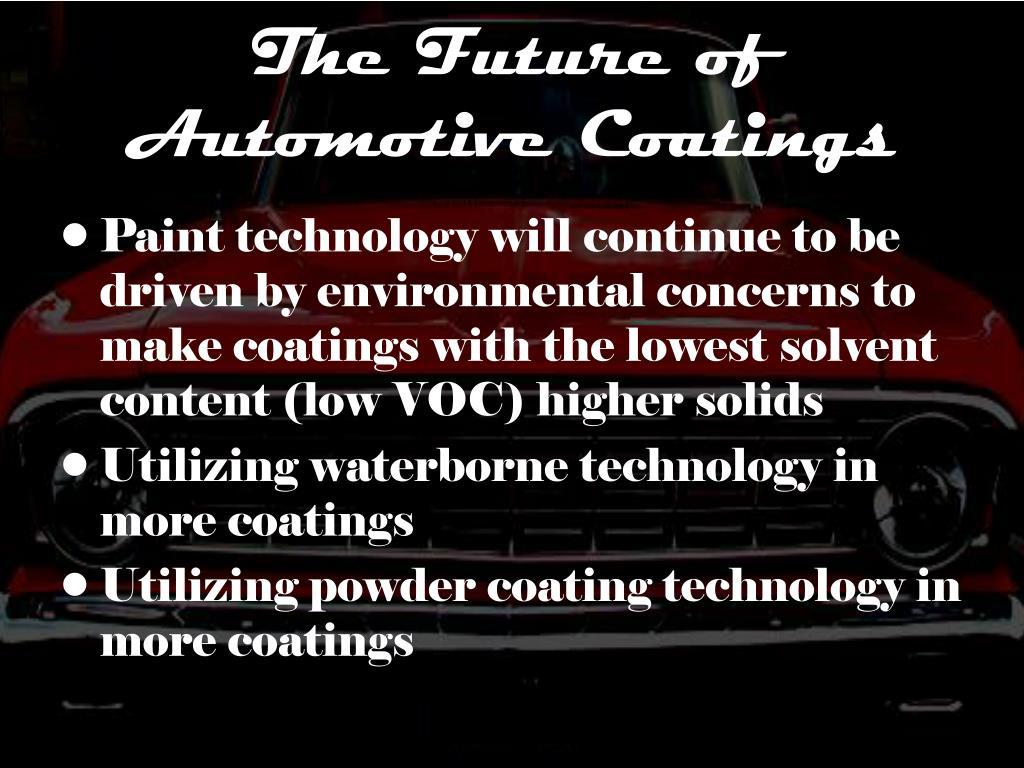 The Future of Automotive Coatings