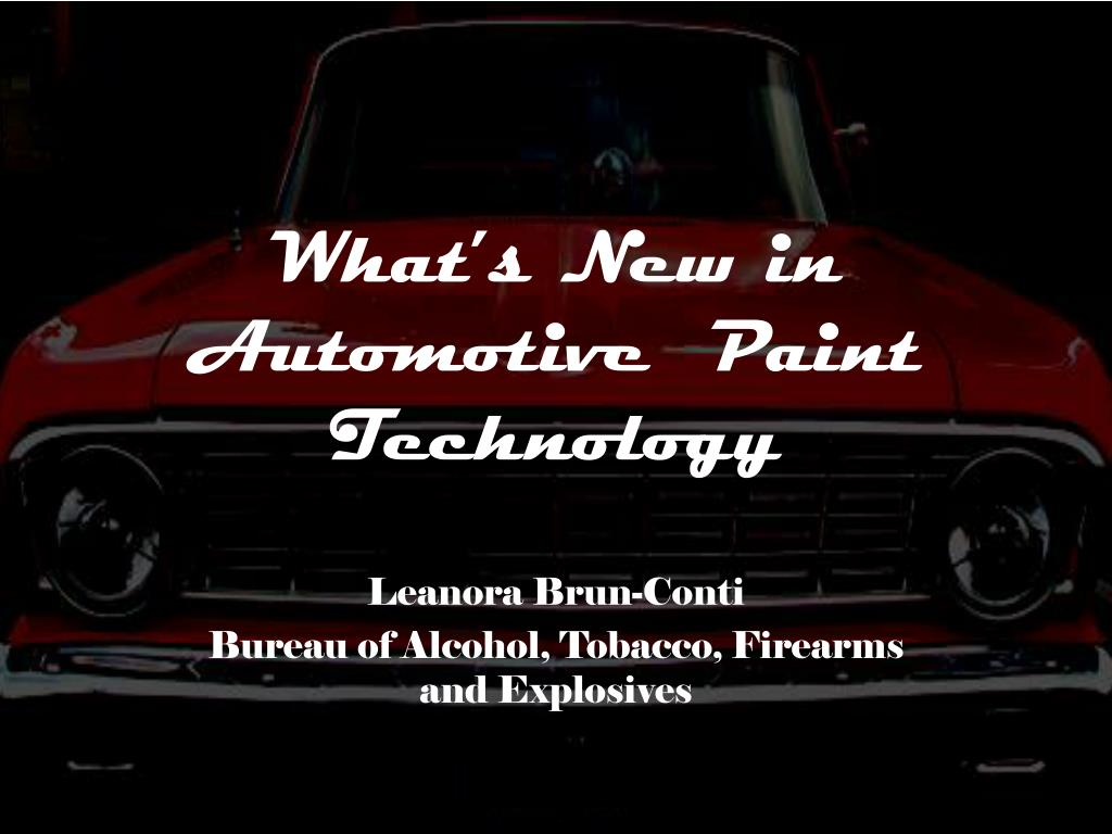 what s new in automotive paint technology