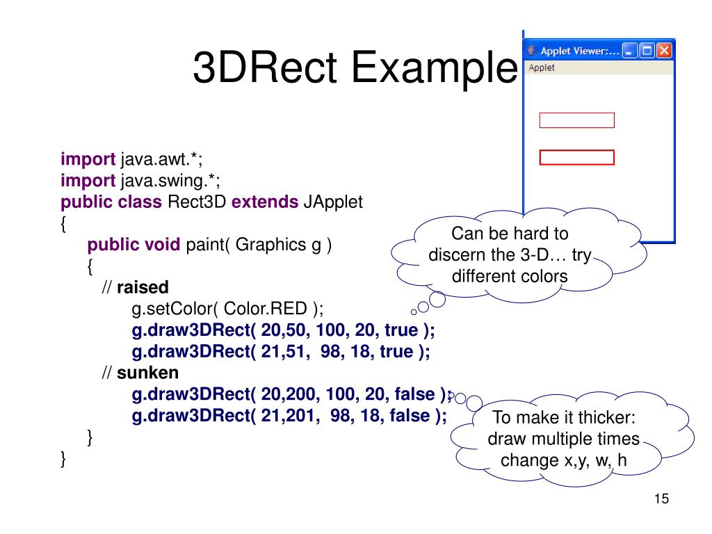 3DRect Example