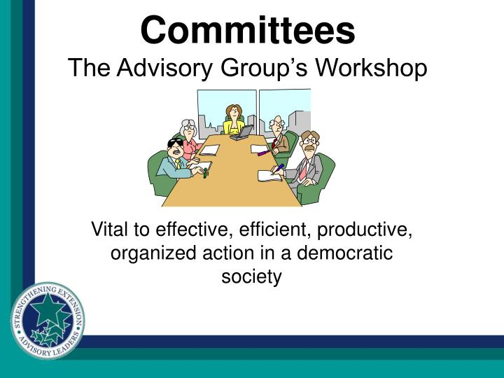Committees the advisory group s workshop