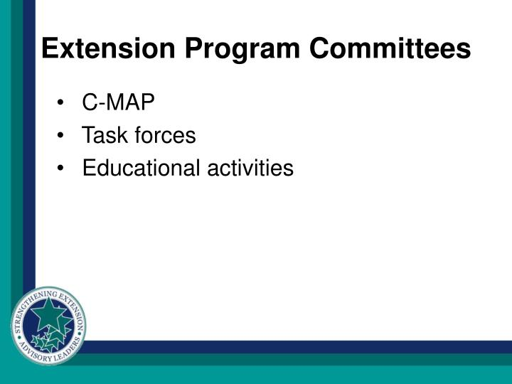 Extension Program Committees