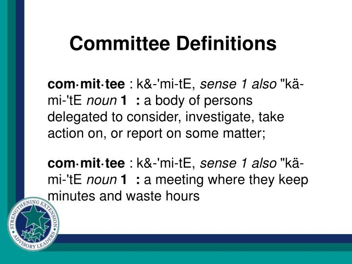 Committee Definitions