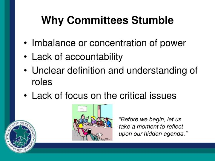 Why Committees Stumble