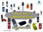 color control of cell phone housings