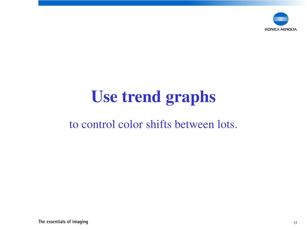 Use trend graphs