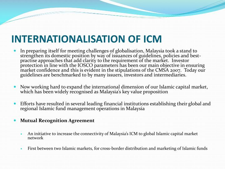 INTERNATIONALISATION OF ICM