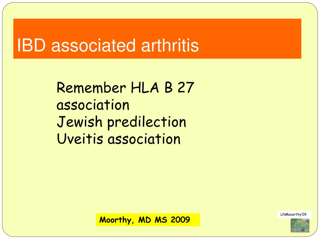 IBD associated arthritis