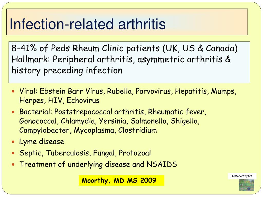 Infection-related arthritis