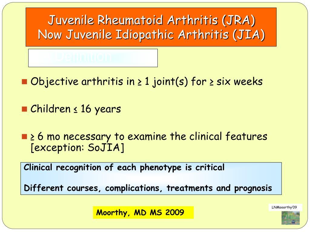 Juvenile Rheumatoid Arthritis (JRA)