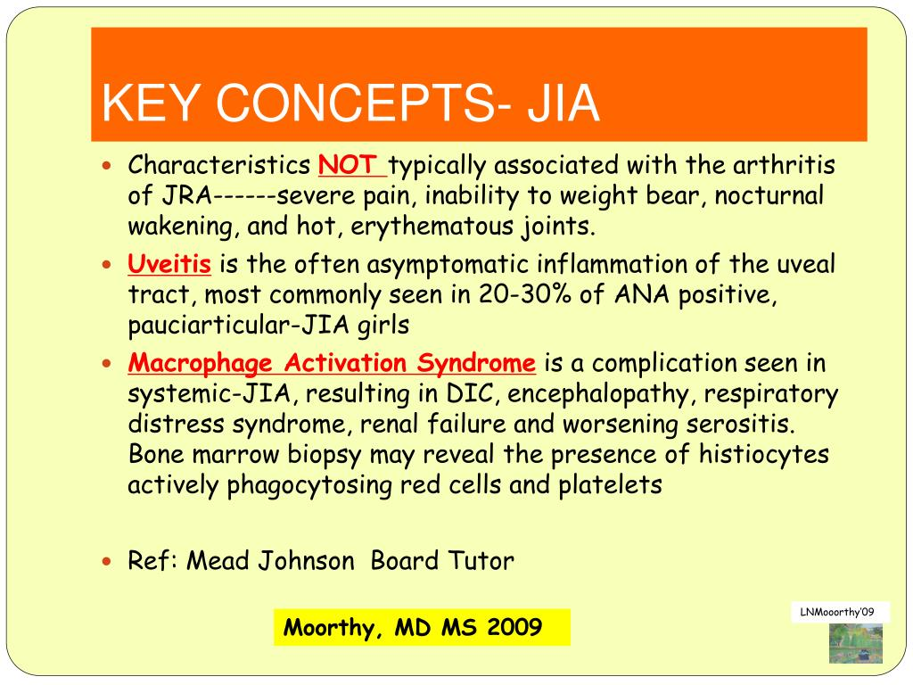 KEY CONCEPTS- JIA