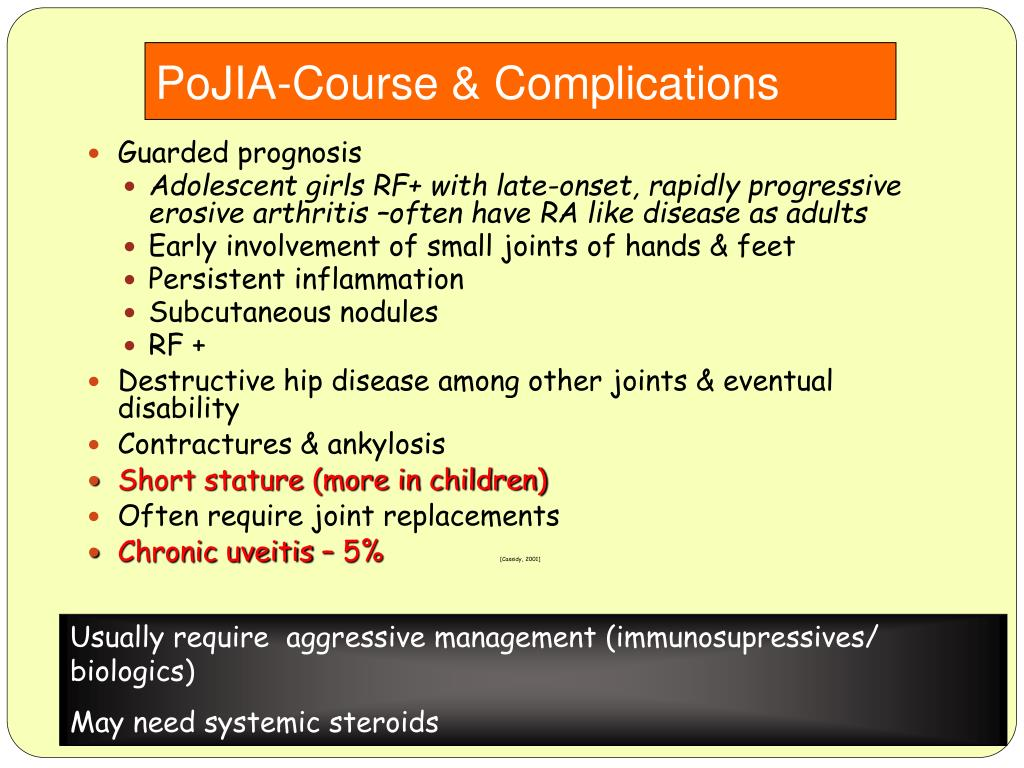 PoJIA-Course & Complications