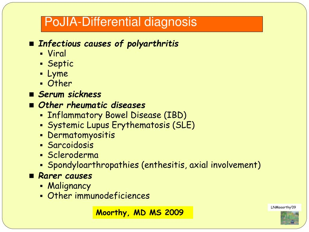 PoJIA-Differential diagnosis