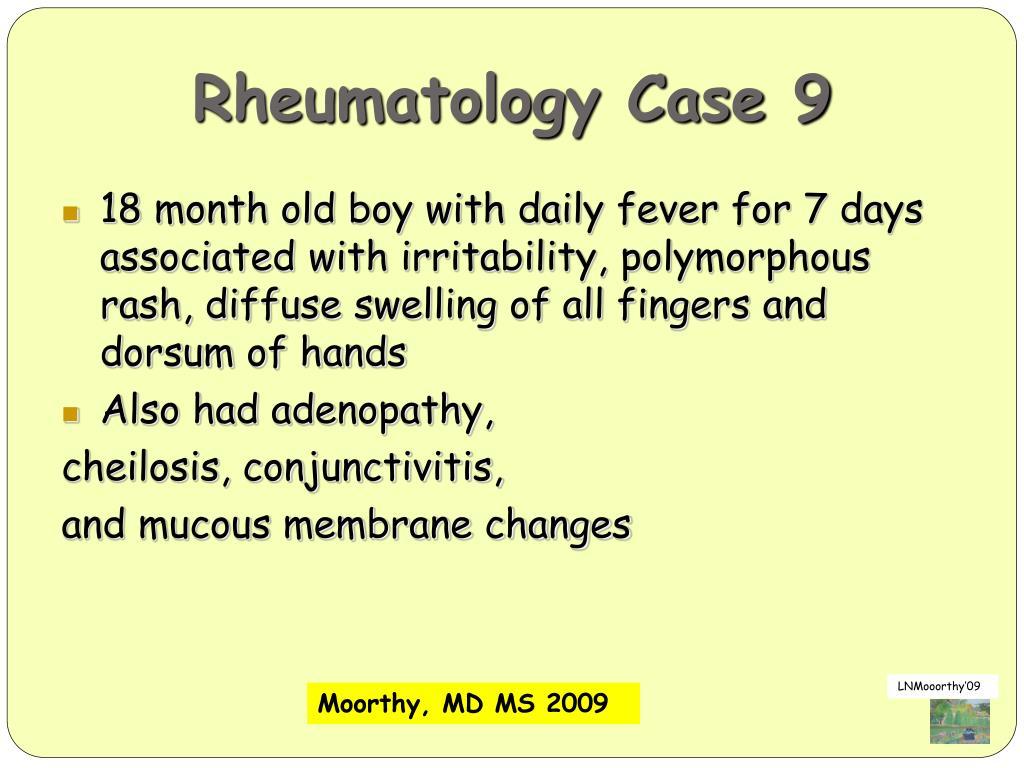 Rheumatology Case 9