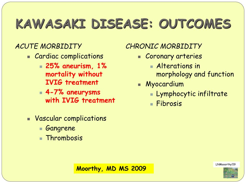 KAWASAKI DISEASE: OUTCOMES