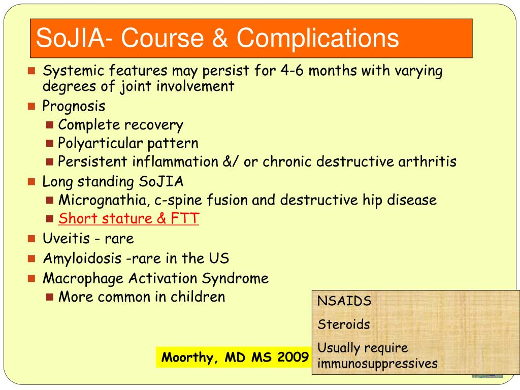 SoJIA- Course & Complications