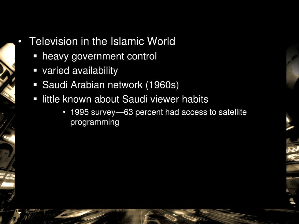 Television in the Islamic World