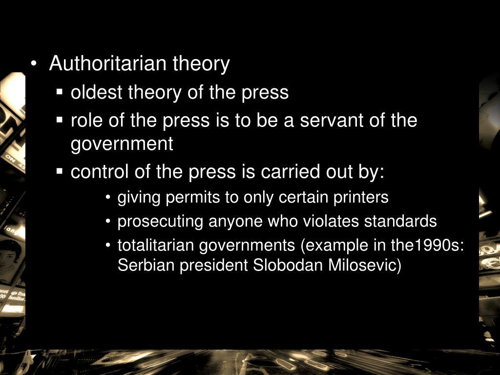 Authoritarian theory