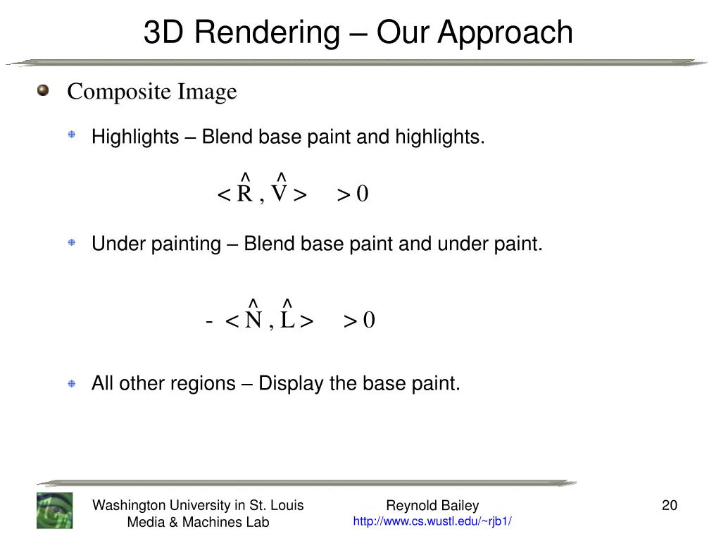 3D Rendering – Our Approach