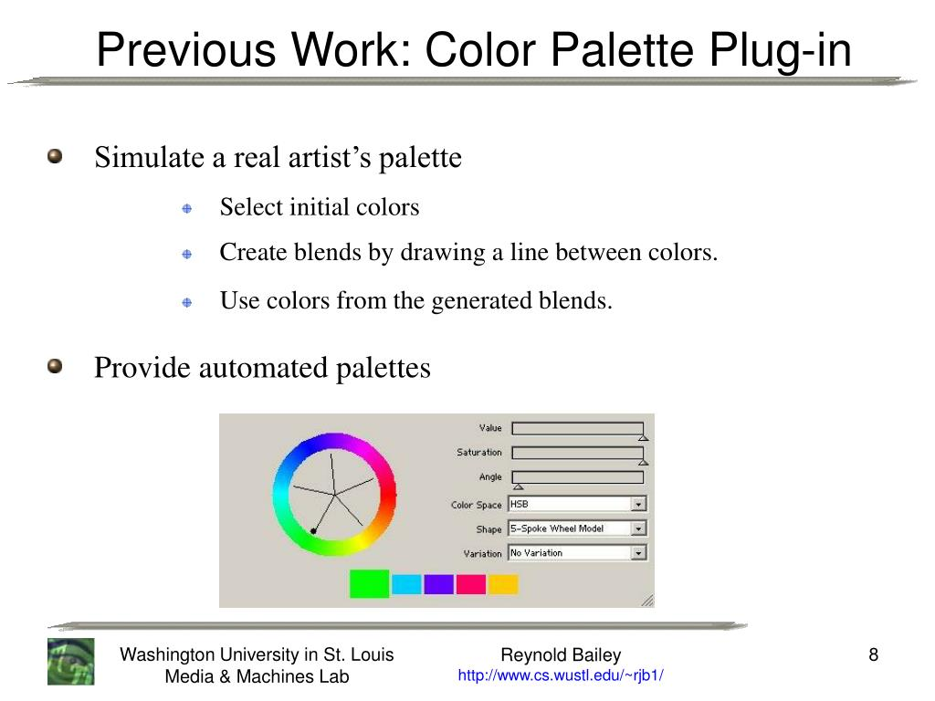 Previous Work: Color Palette Plug-in