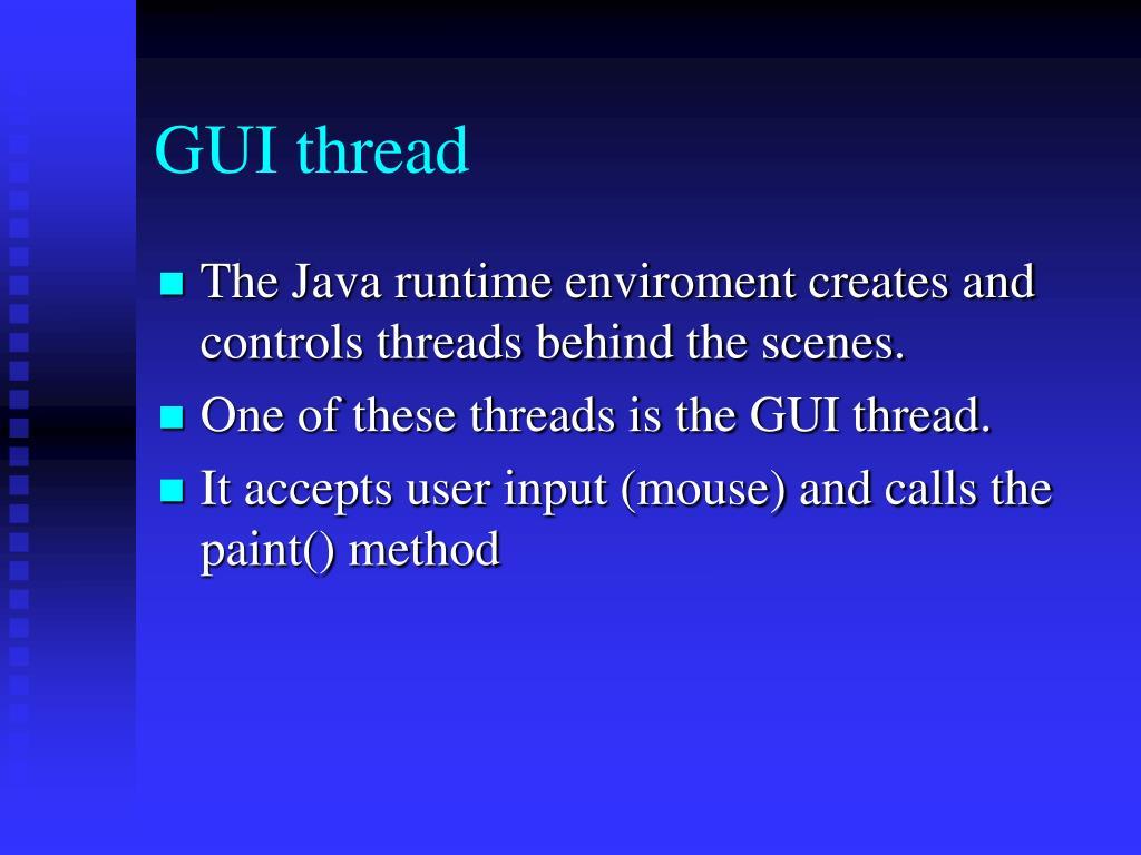 GUI thread