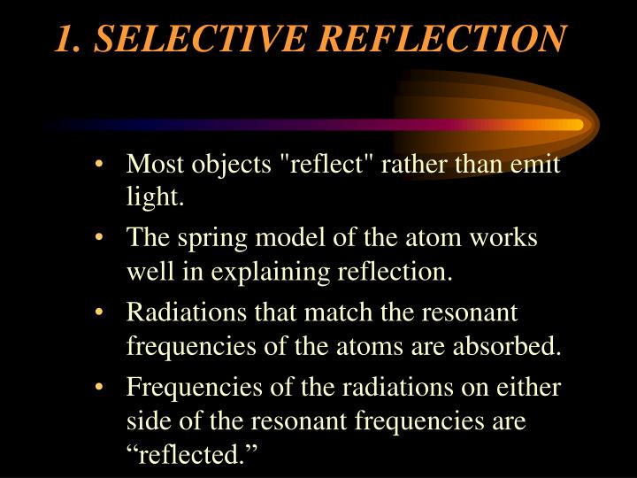 1 selective reflection