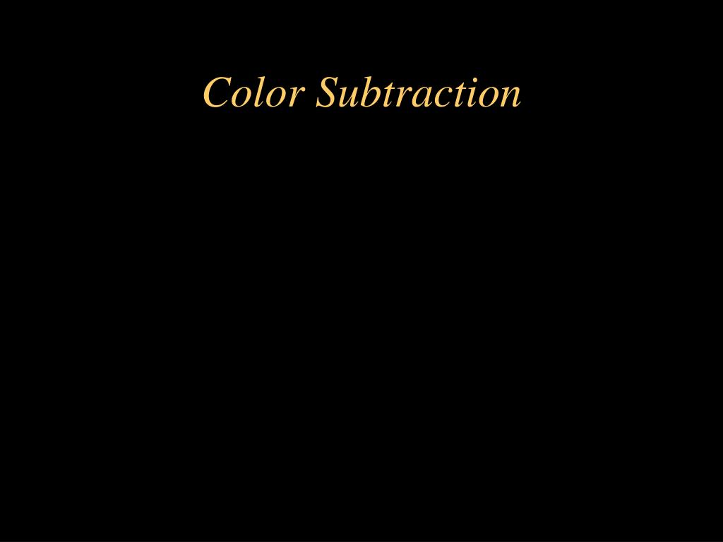 Color Subtraction