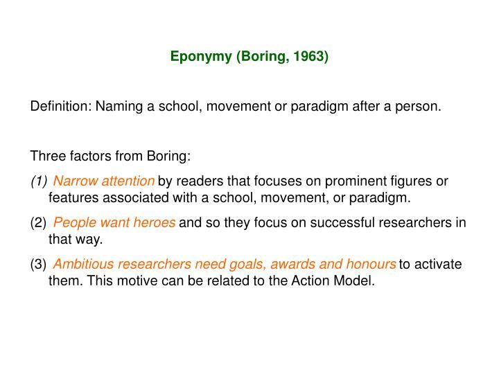 Eponymy (Boring, 1963)