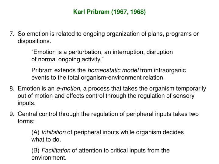 Karl Pribram (1967, 1968)