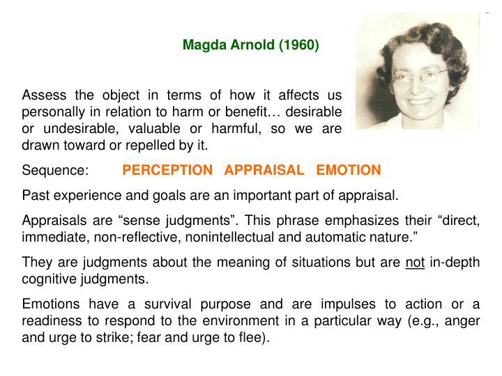 Magda Arnold (1960)