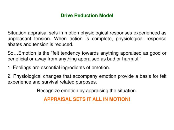 Drive Reduction Model