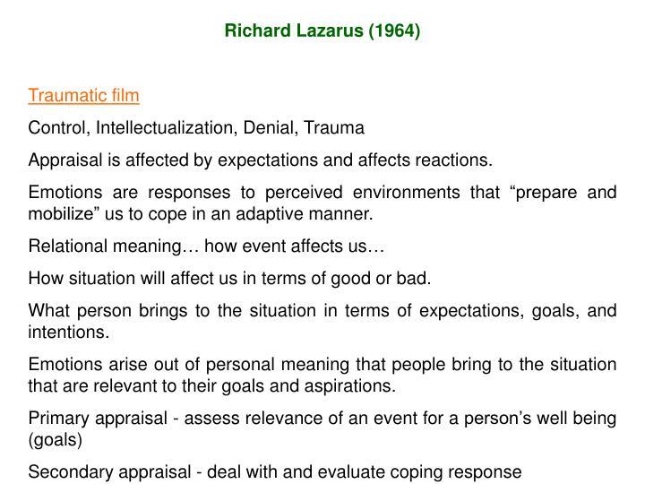 Richard Lazarus (1964)