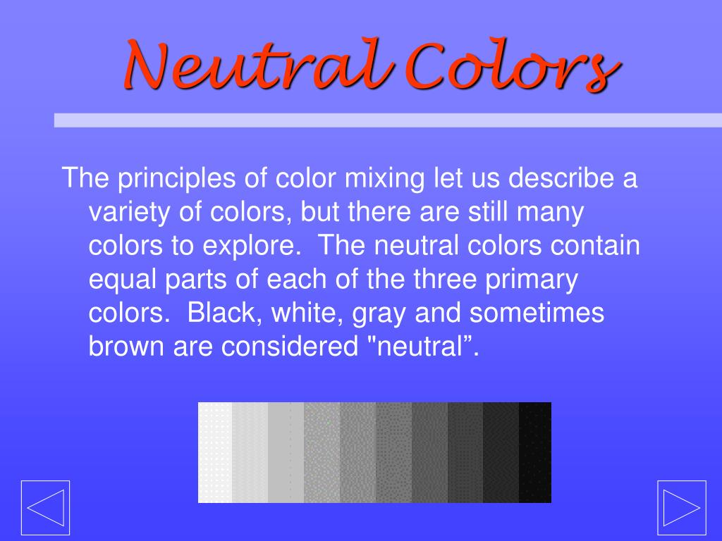 Neutral Colors
