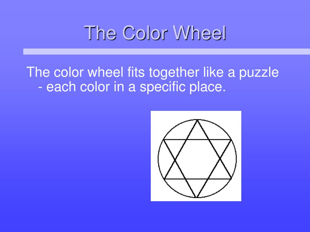 The color wheel fits together like a puzzle - each color in a specific place.
