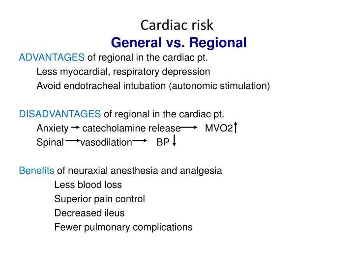 Cardiac risk