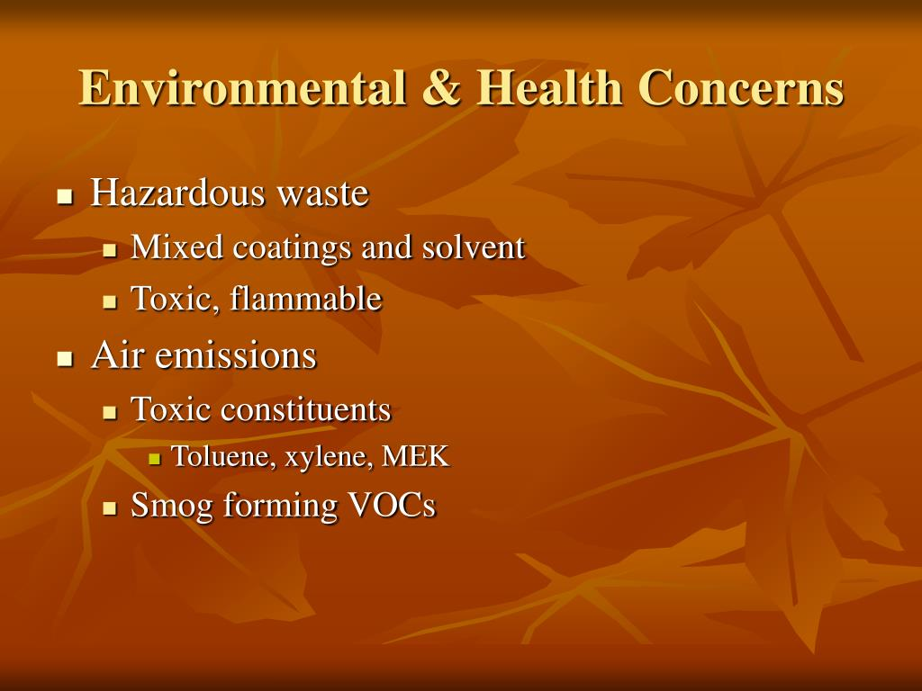 Environmental & Health Concerns