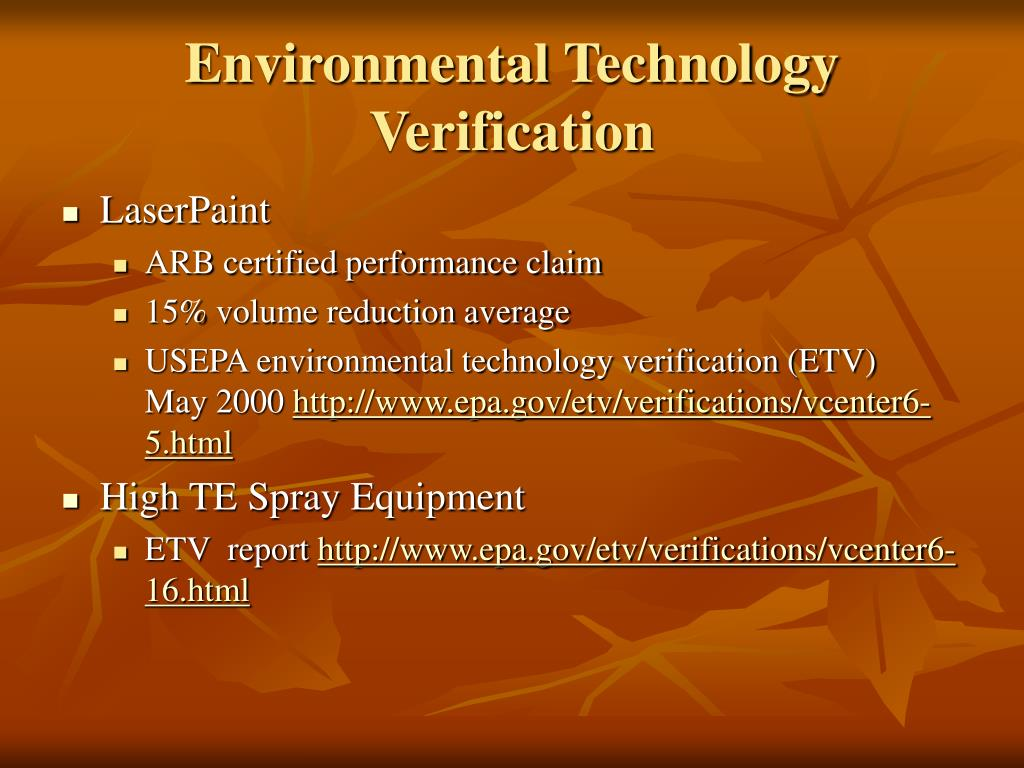 Environmental Technology Verification