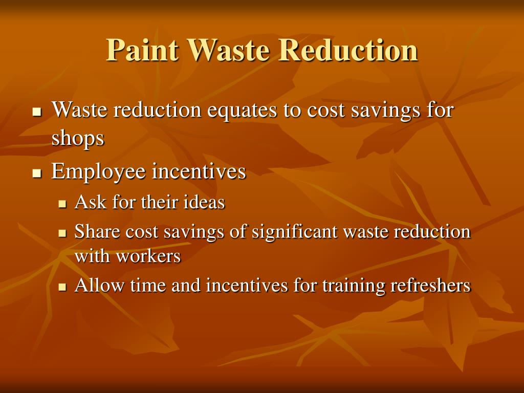 Paint Waste Reduction
