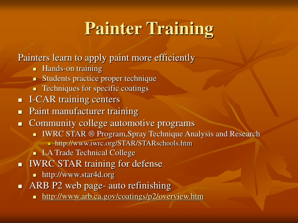 Painter Training