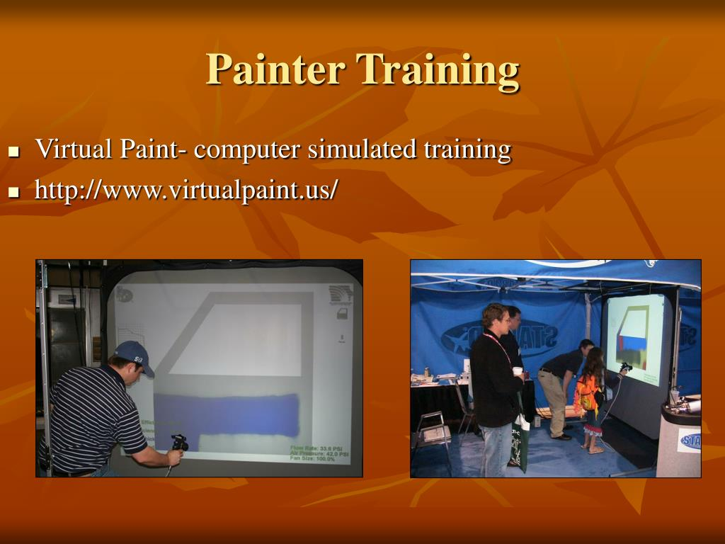Virtual Paint- computer simulated training