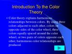 introduction to the color theory