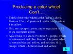 producing a color wheel con t