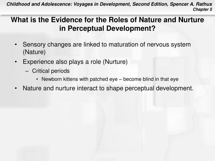 What is the Evidence for the Roles of Nature and Nurture