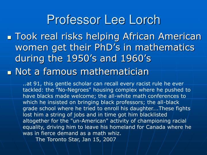 Professor Lee Lorch