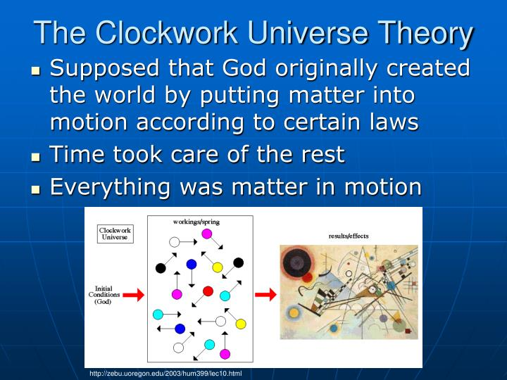 The Clockwork Universe Theory